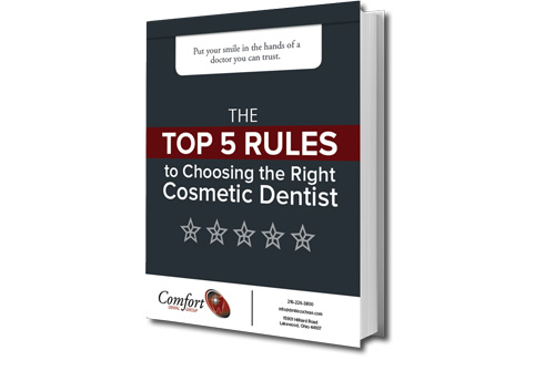 Preview of our eBook The Top 5 Rules to Choosing the Right Cosmetic Dentist