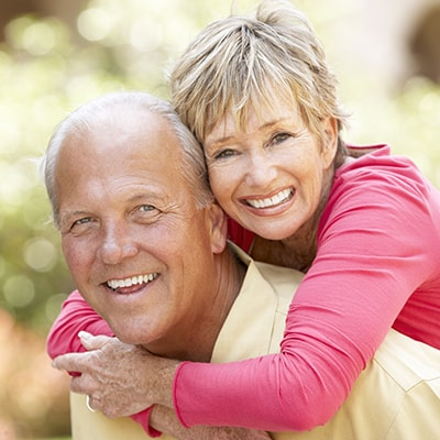 Dentures can replace missing teeth.