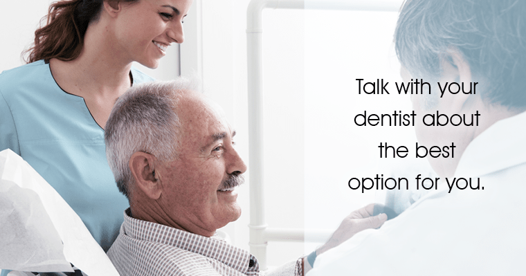 Your choice of options depends on your budget, oral health, and personal preference.
